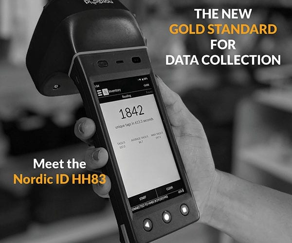 Nordic ID HH83 barcode and RFID handheld