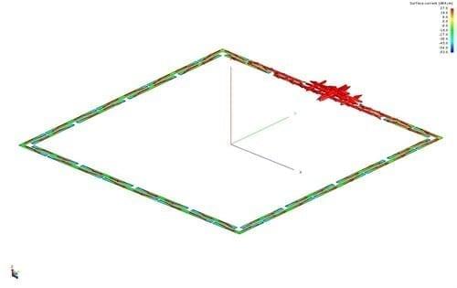 UHF RFID reading segmented loop antenna
